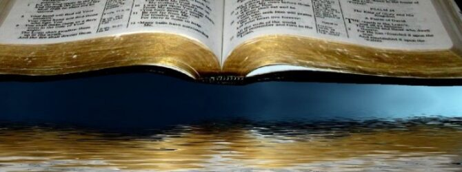 Musing of the Bible Significance of the Element Water