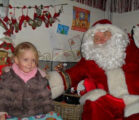 xmas 2009 Leia and Santa