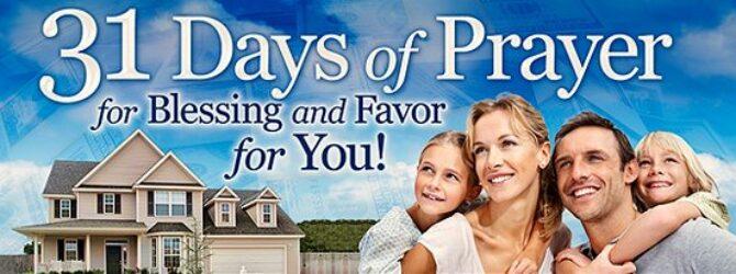 31 Days of Prayer Newsletter