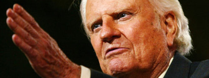 Billy Graham Urges Americans to Vote Biblical Values