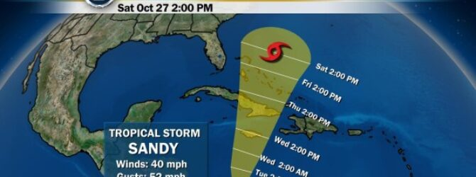 Sandy packs punch as a strong Category 2 hurricane, claims 2 lives