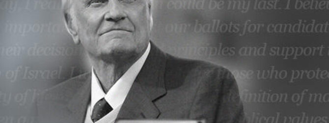 Billy Graham:Vote Biblical Values #ourCOG