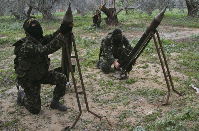 Terrorists Prepare Rockets Aimed at Israel