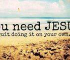 You need #JESUS