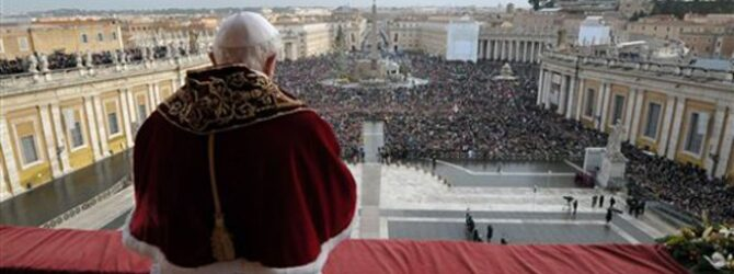 TIME: Pope Benedict XVI To Resign at End of Month