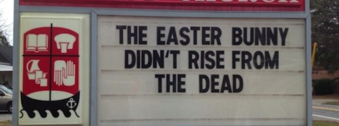 Easter bunny didn't rise…