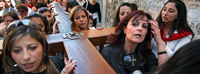 Say a prayer for Christians in the Middle East