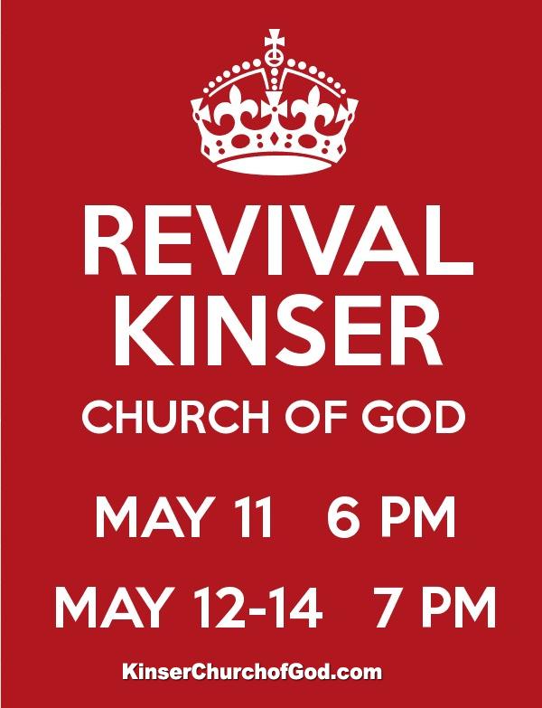 Kinser Church of God REVIVAL