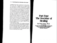 Dr. Terry Cross: The Doctrine of Healing