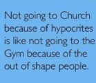 Not going to church due to…
