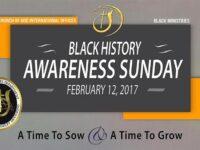 Black History Awareness Sunday