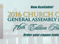 2016 General Assembly Minutes NOW AVAILABLE
