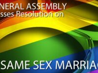 STATEMENT BY PASTOR  REGARDING SAME-SEX MARRIAGES