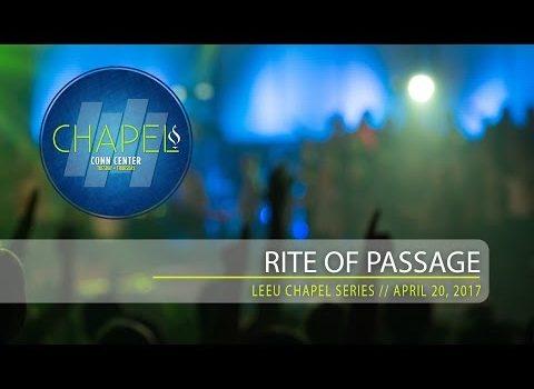 Lee University Chapel // Rite of Passage // April 25, 2017