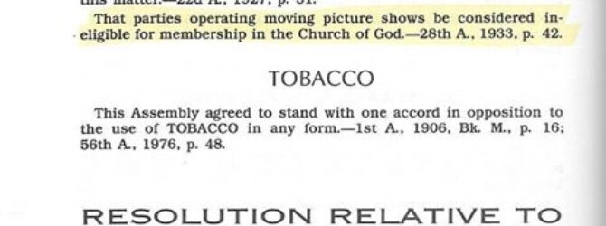 Against members using TOBACCO in any form