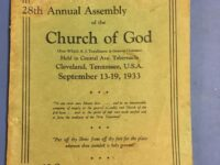 Tuesday Minutes of the 44th Annual Assembly of the Church of God