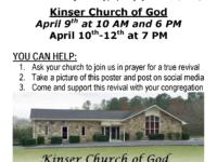 tnCOG: Kinser Church of God in REVIVAL