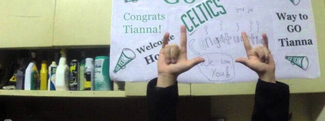 A Surprise for My Celtic Cheerleader