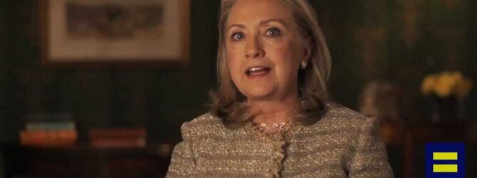 Hillary Clinton endorses gay marriage — change in position