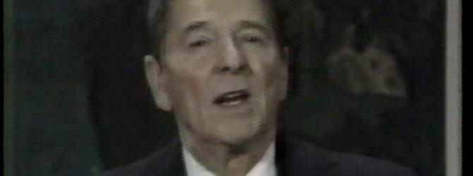 Ronald Reagan talks to America on Thanksgiving (1985)
