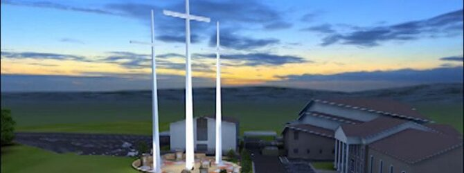 Three crosses now stand tall over Chattanooga