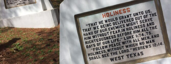 HOLINESS in the Fields of the Wood at Prayer Mountain in Murphy, NC