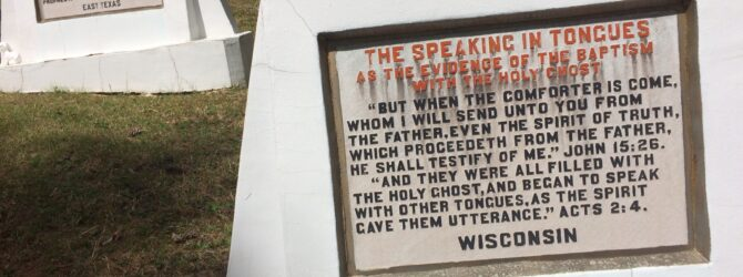 The SPEAKING in TONGUES in the Fields of the Wood at Prayer Mountain in Murphy, NC