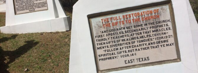 The FULL RESTORATION of the GIFTS of the CHURCH in the Fields of the Wood at Prayer Mountain in Murphy, NC