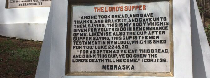 The LORD'S SUPPER in the Fields of the Wood at Prayer Mountain in Murphy, NC