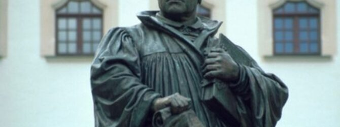 The 95 theses that Martin LUTHER