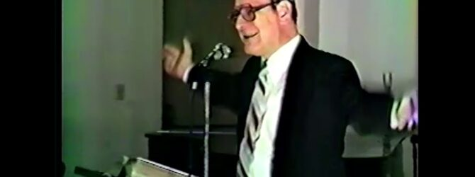 Charles W. Conn on Church of God History — Lecture 02