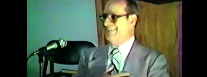 Charles W. Conn on Church of God History — Lecture 03