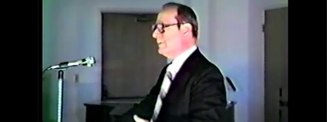 Charles W. Conn on Church of God History — Lecture 01 *