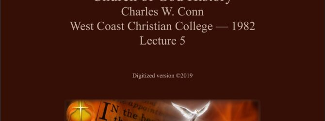 Charles W.  Conn Lecture 05