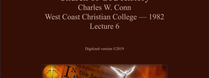Charles W  Conn Lecture 06