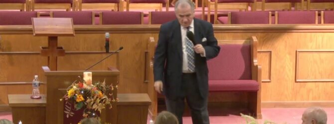 """""""Thankful In The Most Troubling Place"""" Pastor D. R. Shortridge Tuesday Evening Service 11/26/19"""