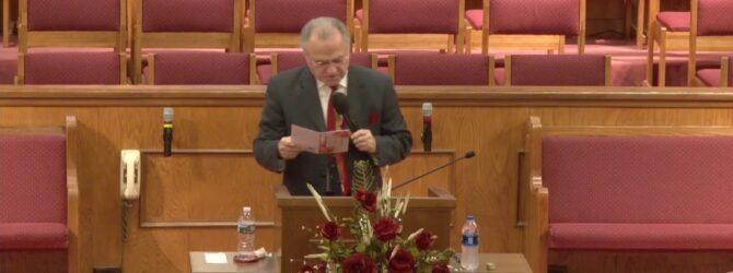 """HolyGhost Service"" Pastor D. R. Shortridge Sunday Evening Service 1/26/2020"