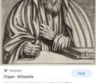 Origen of Alexandria was a TRI-THEIST ______________________________________ IF ORIGEN WAS…