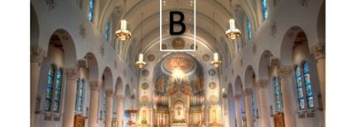 Where would Jesus mostly likely be attending church? A, B…
