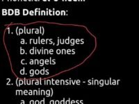 Elohim is plural but has absolutely nothing to do with…