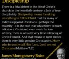 There is not one true disciple of the Lord Jesus…