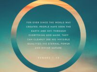 The wrath of God is being revealed from heaven against…