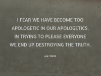 Take a stand for truth.