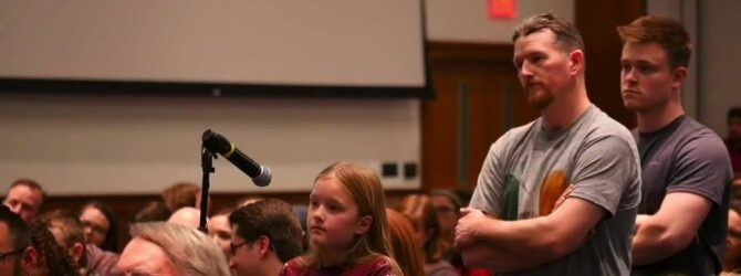A great question from a young girl about why God…
