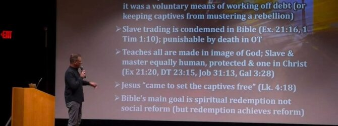 Responding to a skeptic claiming that the Old Testament supports…