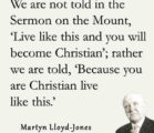 "In the Sermon on the Mount, Jesus said: ""No man…"