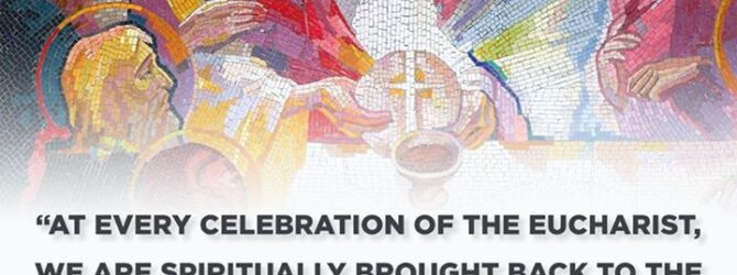 Today is Holy Thursday, where we commemorate the establishment of…