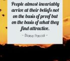 People believe, what they want to believe. They never want…