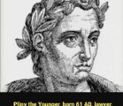 Pliny the Younger (61-113AD) A letter of Pliny the Younger,…