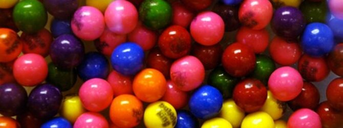 I am often brought up with the example of gumballs…